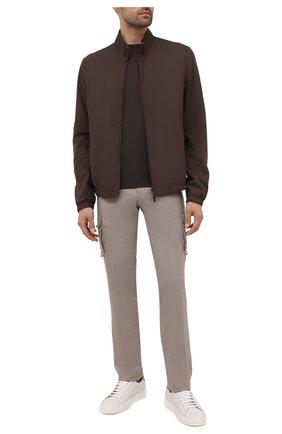 Мужские кашемировые брюки-карго KITON бежевого цвета, арт. UFPPCAJ0325A | Фото 2