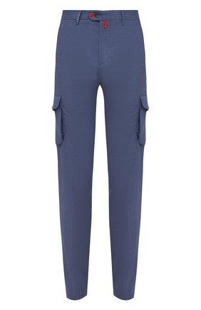 Мужские кашемировые брюки-карго KITON синего цвета, арт. UFPPCAJ0325A   Фото 1