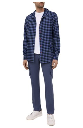 Мужские кашемировые брюки-карго KITON синего цвета, арт. UFPPCAJ0325A   Фото 2