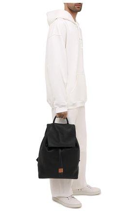 Мужской кожаный рюкзак LOEWE черного цвета, арт. B871J17X01 | Фото 2