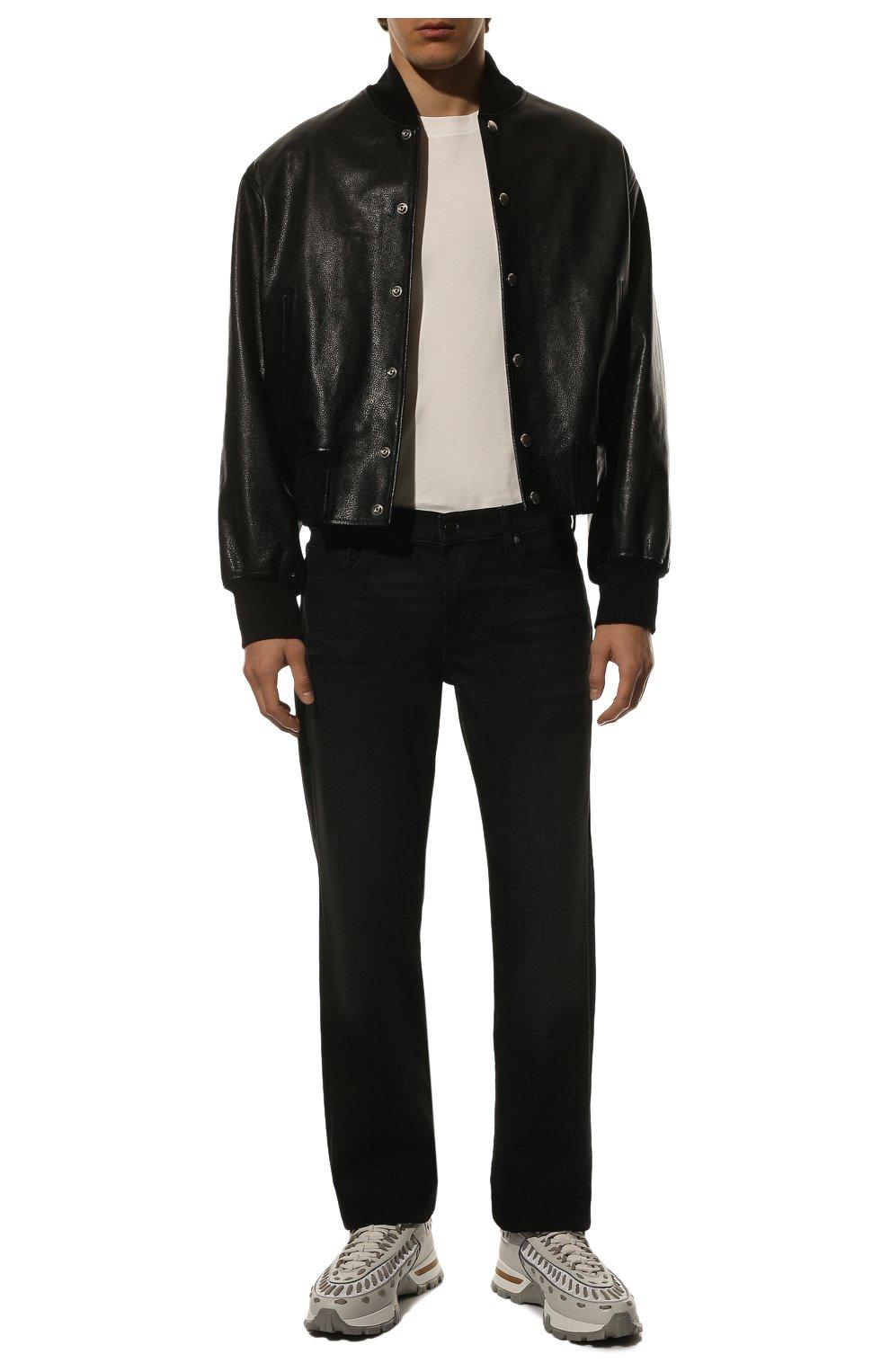 Мужская хлопковая футболка  BRUNELLO CUCINELLI белого цвета, арт. M0T611308 | Фото 2
