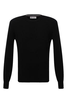 Мужской кашемировый джемпер BRUNELLO CUCINELLI черного цвета, арт. M2Q00100   Фото 1