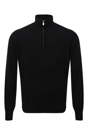 Мужской кашемировый джемпер BRUNELLO CUCINELLI черного цвета, арт. M2Q00124   Фото 1