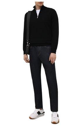 Мужской кашемировый джемпер BRUNELLO CUCINELLI черного цвета, арт. M2Q00124   Фото 2