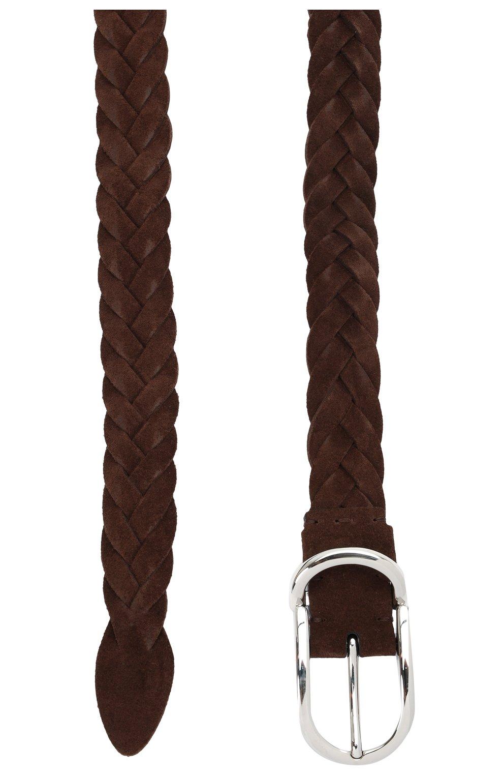Мужской замшевый ремень BRUNELLO CUCINELLI коричневого цвета, арт. MAURP333 | Фото 2