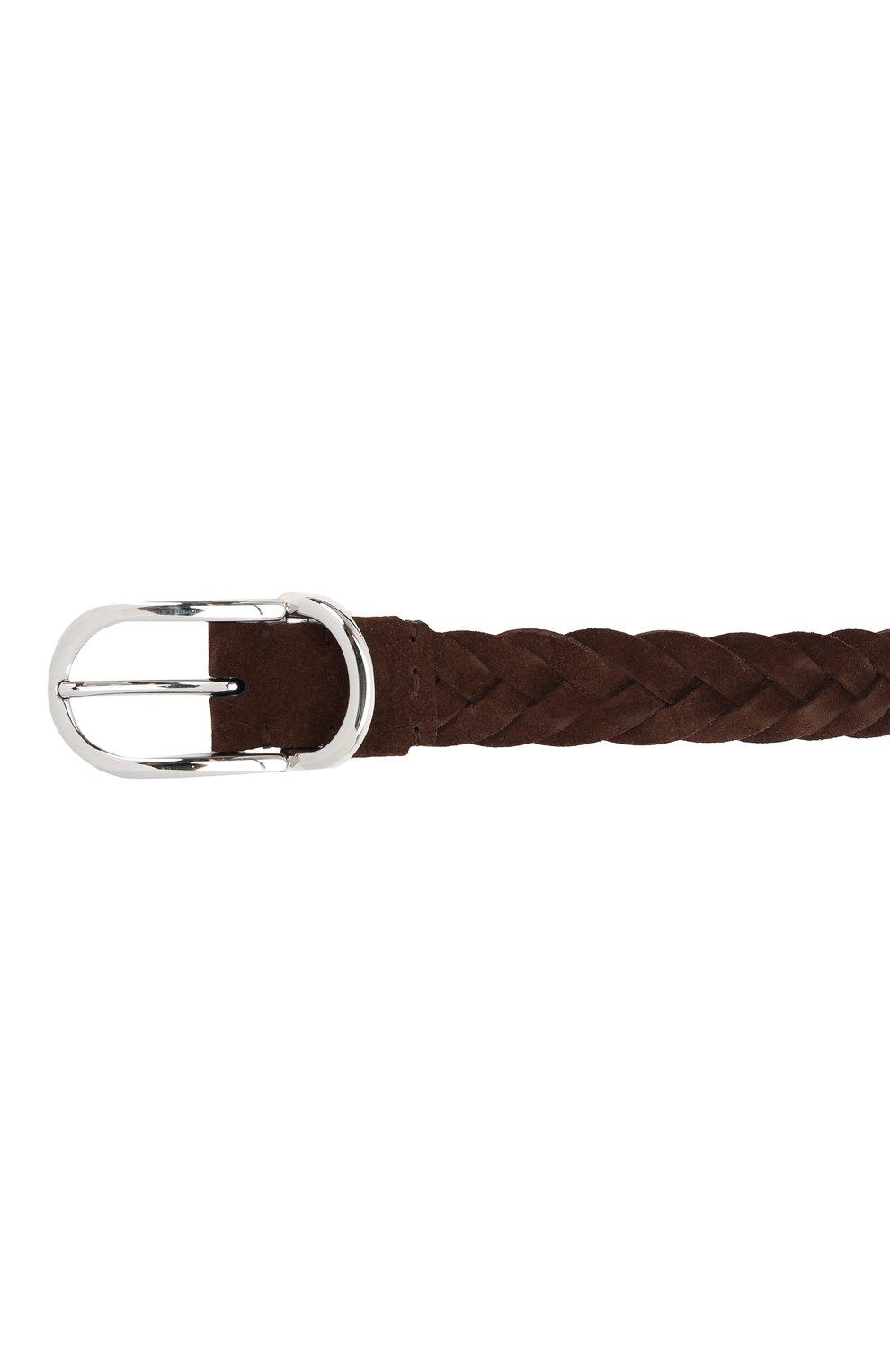 Мужской замшевый ремень BRUNELLO CUCINELLI коричневого цвета, арт. MAURP333 | Фото 3