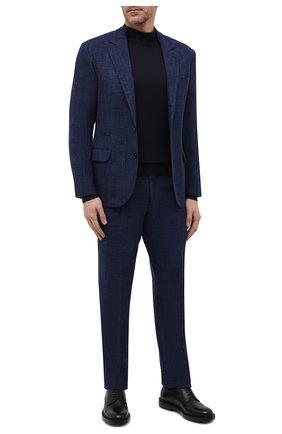 Мужской костюм из шерсти и шелка BRUNELLO CUCINELLI темно-синего цвета, арт. MQ4257BT7 | Фото 1