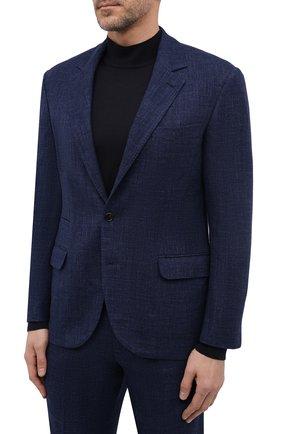 Мужской костюм из шерсти и шелка BRUNELLO CUCINELLI темно-синего цвета, арт. MQ4257BT7 | Фото 2
