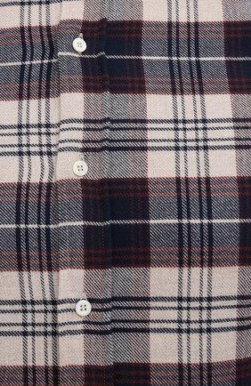 Мужская хлопковая рубашка BRUNELLO CUCINELLI разноцветного цвета, арт. MQ4433029 | Фото 5
