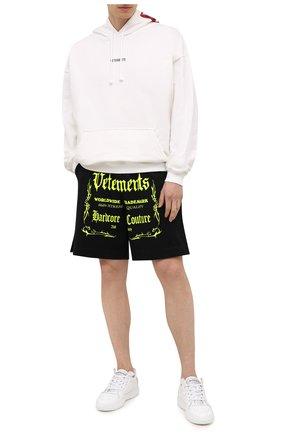 Мужские хлопковые шорты VETEMENTS черного цвета, арт. UA52TR400X 1610/M | Фото 2