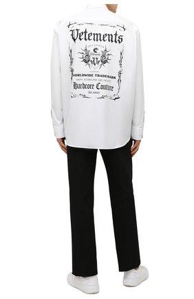 Мужская хлопковая рубашка VETEMENTS белого цвета, арт. UA52SH500W 1005/M | Фото 2