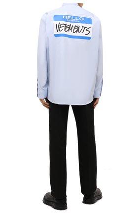 Мужская хлопковая рубашка VETEMENTS голубого цвета, арт. UA52SH250B 1005/M | Фото 2