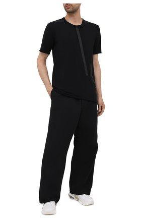 Мужская хлопковая футболка ISAAC SELLAM черного цвета, арт. BIAISE-JERSEY H22   Фото 2