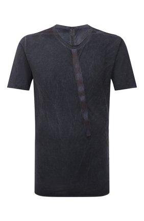 Мужская хлопковая футболка ISAAC SELLAM темно-серого цвета, арт. BIAISE-JERSEY H22   Фото 1