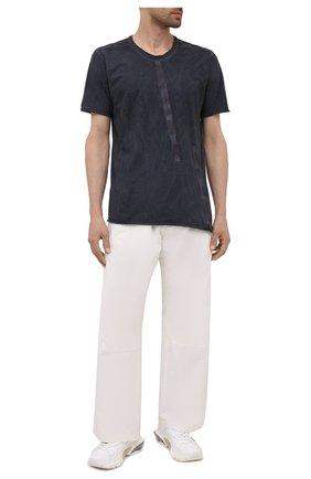 Мужская хлопковая футболка ISAAC SELLAM темно-серого цвета, арт. BIAISE-JERSEY H22   Фото 2