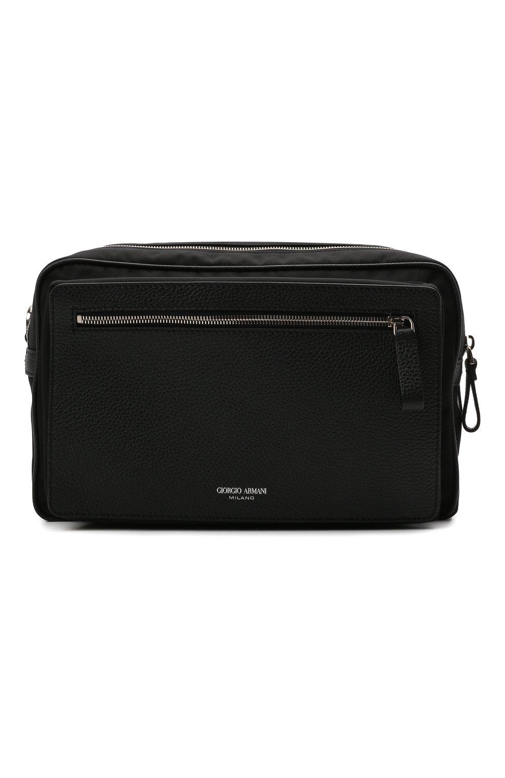 Мужская комбинированная сумка GIORGIO ARMANI черного цвета, арт. Y2M247/YI68E | Фото 1