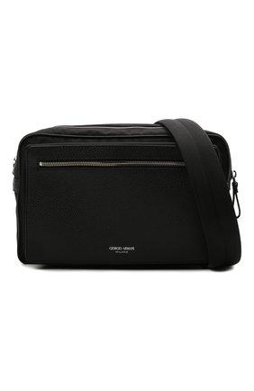 Мужская комбинированная сумка GIORGIO ARMANI черного цвета, арт. Y2M247/YI68E | Фото 5