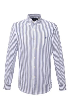 Мужская хлопковая рубашка POLO RALPH LAUREN синего цвета, арт. 710843810/4156 | Фото 1