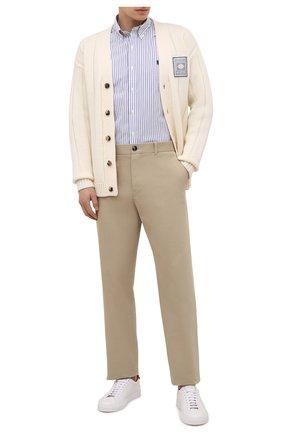 Мужская хлопковая рубашка POLO RALPH LAUREN синего цвета, арт. 710843810/4156 | Фото 2
