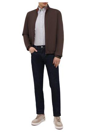 Мужская хлопковая рубашка POLO RALPH LAUREN серого цвета, арт. 710842631/4656E | Фото 2