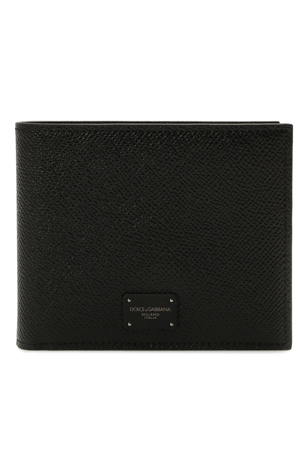Мужской кожаное портмоне DOLCE & GABBANA черного цвета, арт. BP2463/AZ602 | Фото 1