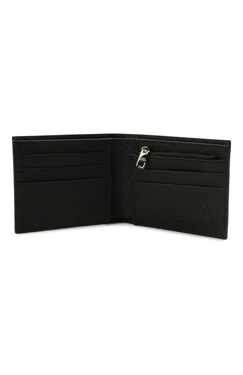 Мужской кожаное портмоне DOLCE & GABBANA черного цвета, арт. BP2463/AZ602 | Фото 3