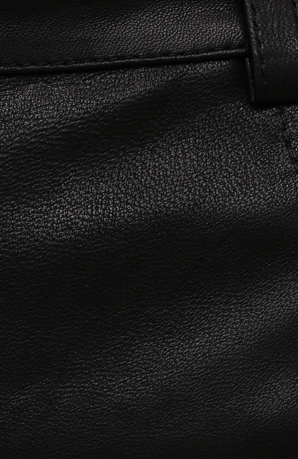 Женская кожаная юбка BATS черного цвета, арт. SS21_S10   Фото 5 (Стили: Гламурный; Длина Ж (юбки, платья, шорты): Мини; Женское Кросс-КТ: Юбка-одежда)