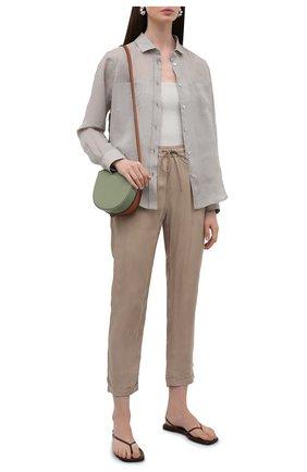 Женские брюки BOSS темно-бежевого цвета, арт. 50453894 | Фото 2