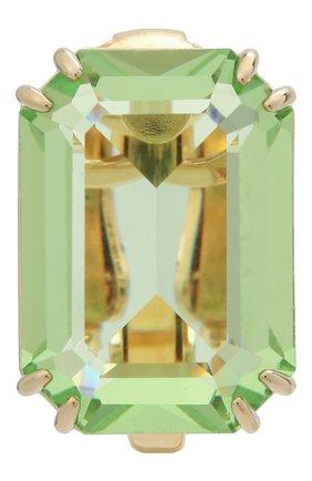 Женские серьга-клипса millenia SWAROVSKI зеленого цвета, арт. 5598358   Фото 1