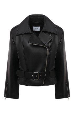 Женская кожаная куртка BATS черного цвета, арт. SS21_050 | Фото 1