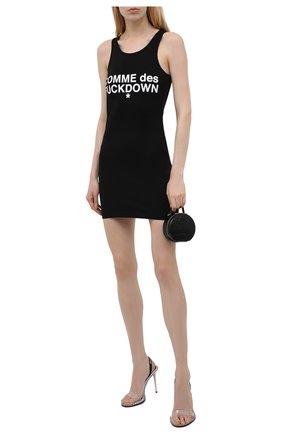 Женское хлопковое платье COMME DES FUCKDOWN черного цвета, арт. CDFD1354   Фото 2