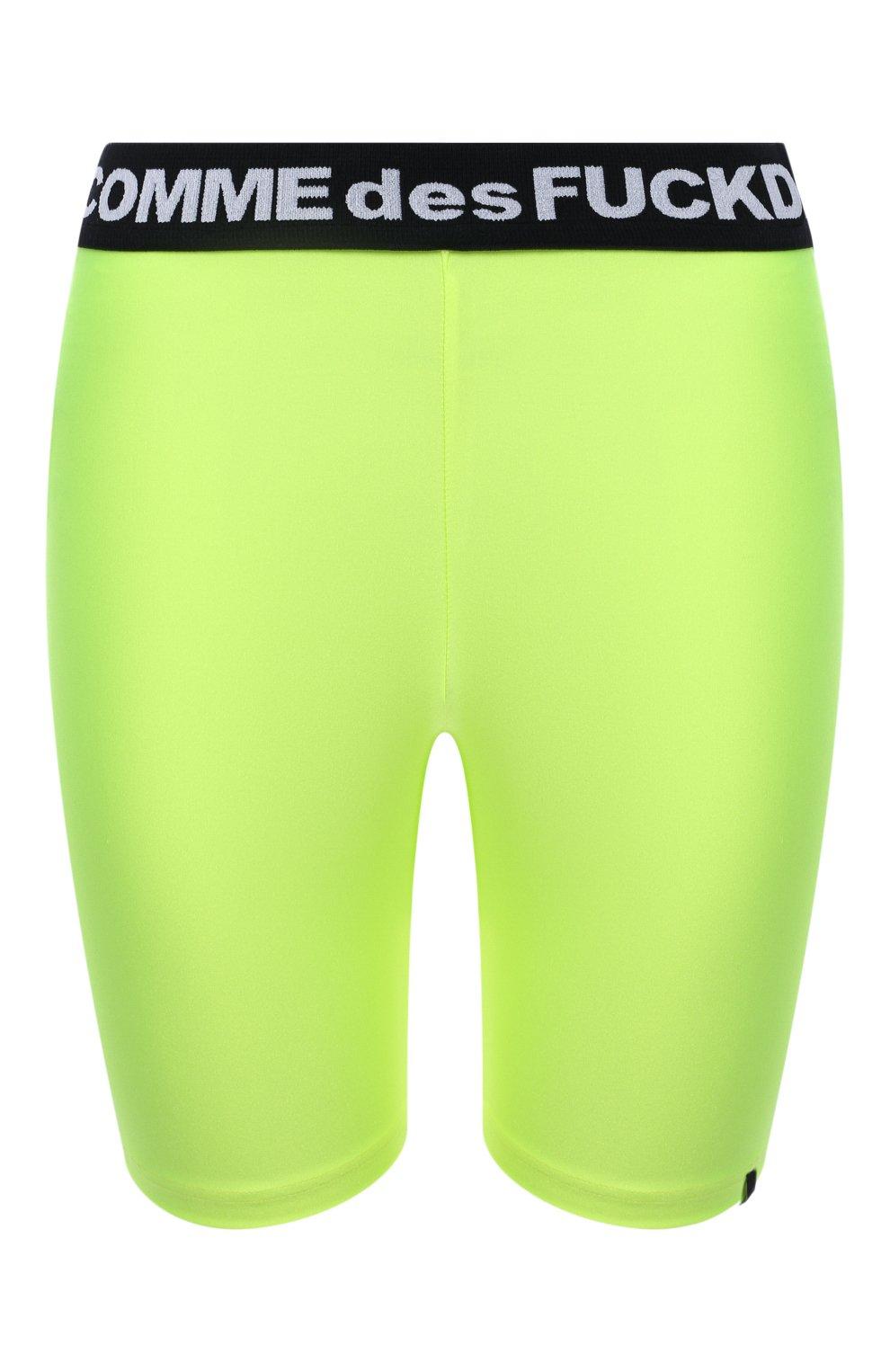 Женские шорты COMME DES FUCKDOWN светло-зеленого цвета, арт. CDFD1382 | Фото 1 (Женское Кросс-КТ: Шорты-одежда, Шорты-спорт; Длина Ж (юбки, платья, шорты): Мини; Материал внешний: Синтетический материал; Стили: Спорт-шик)