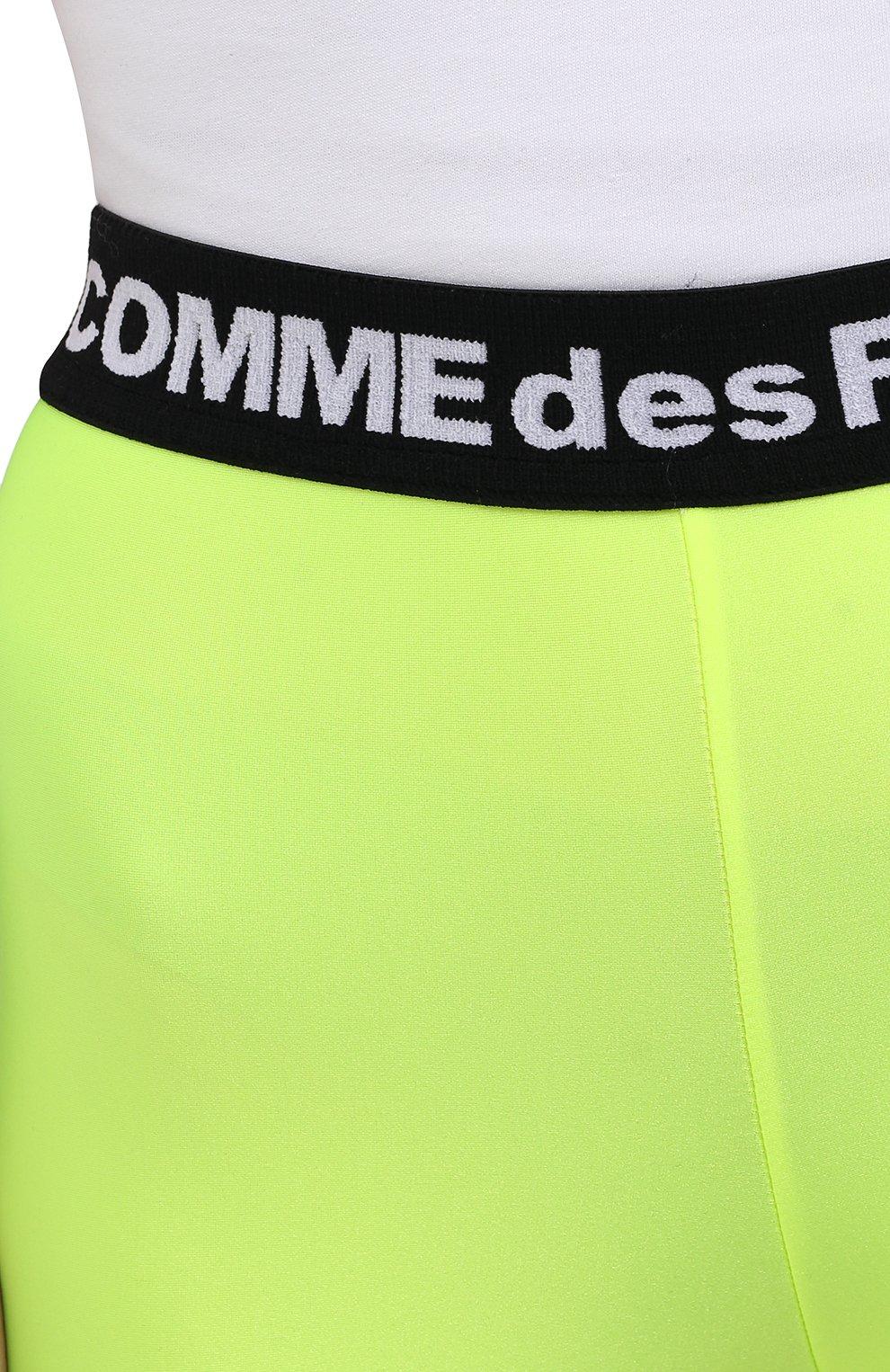 Женские шорты COMME DES FUCKDOWN светло-зеленого цвета, арт. CDFD1382 | Фото 5 (Женское Кросс-КТ: Шорты-одежда, Шорты-спорт; Длина Ж (юбки, платья, шорты): Мини; Материал внешний: Синтетический материал; Стили: Спорт-шик)