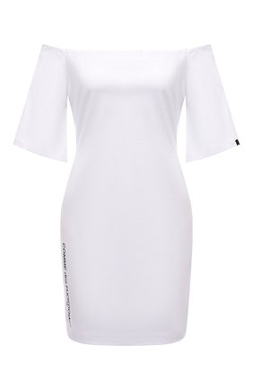 Женское хлопковое платье COMME DES FUCKDOWN белого цвета, арт. CDFD1457   Фото 1