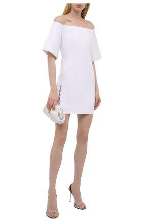 Женское хлопковое платье COMME DES FUCKDOWN белого цвета, арт. CDFD1457   Фото 2