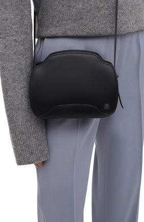 Женская сумка sesia LORO PIANA темно-синего цвета, арт. FAL6767 | Фото 2 (Материал: Натуральная кожа; Сумки-технические: Сумки через плечо; Размер: small, mini; Ремень/цепочка: На ремешке)