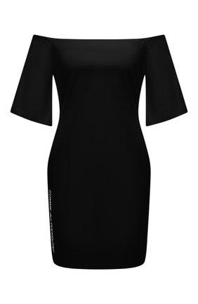 Женское хлопковое платье COMME DES FUCKDOWN черного цвета, арт. CDFD1457   Фото 1