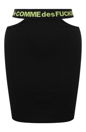 Женская хлопковая юбка COMME DES FUCKDOWN черного цвета, арт. CDFD1468   Фото 1