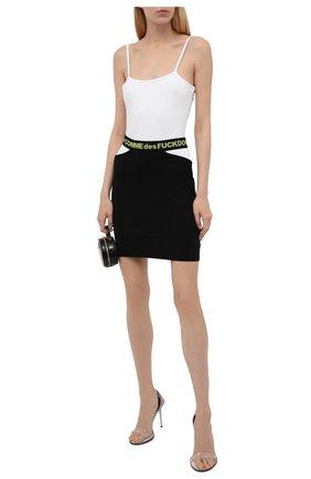 Женская хлопковая юбка COMME DES FUCKDOWN черного цвета, арт. CDFD1468   Фото 2