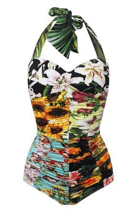 Женский слитный купальник DOLCE & GABBANA разноцветного цвета, арт. 09A68J/0NI44 | Фото 1