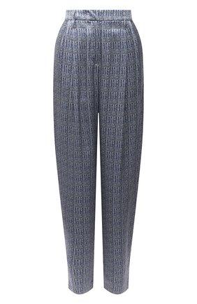 Женские шелковые брюки GIORGIO ARMANI голубого цвета, арт. 1WHPP0IH/T02MR   Фото 1
