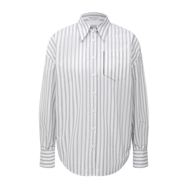 Хлопковая рубашка BRUNELLO CUCINELLI 12056291