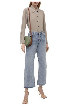 Женская хлопковая рубашка GIORGIO ARMANI бежевого цвета, арт. 1WHCCZ08/TZ930   Фото 2