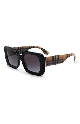 Женские солнцезащитные очки BURBERRY черного цвета, арт. 4327-37578G | Фото 1