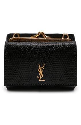 Женская поясная сумка kate SAINT LAURENT черного цвета, арт. 660786/LVD4J/VSAL | Фото 1 (Размер: mini; Ремень/цепочка: На ремешке; Стили: Классический)