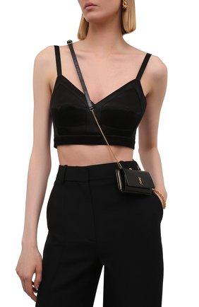 Женская поясная сумка kate SAINT LAURENT черного цвета, арт. 660786/LVD4J/VSAL | Фото 2 (Размер: mini; Ремень/цепочка: На ремешке; Стили: Классический)