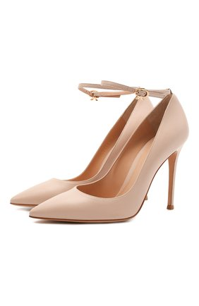 Женские кожаные туфли GIANVITO ROSSI бежевого цвета, арт. G22022.15RIC.NAPM0US | Фото 1