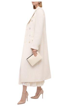 Женские кожаные туфли GIANVITO ROSSI бежевого цвета, арт. G22022.15RIC.NAPM0US | Фото 2