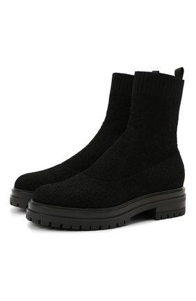 Женские текстильные ботинки GIANVITO ROSSI черного цвета, арт. G73349.20G0M.KIBNER0 | Фото 1