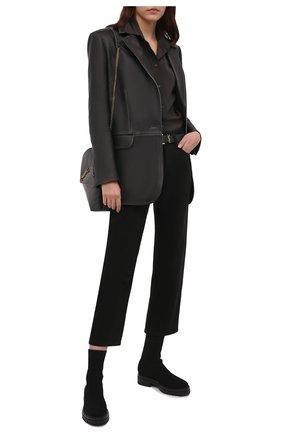 Женские текстильные ботинки GIANVITO ROSSI черного цвета, арт. G73349.20G0M.KIBNER0 | Фото 2